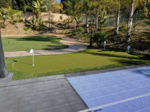 Putting Green - small with artificial turf