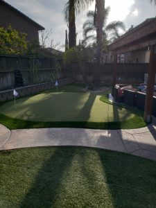 Putting Green in small backyard san diego