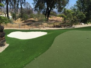 Putting Green Sand Trap in San Diego Back Yard