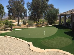 Putting Green in backyard by US Turf San Diego